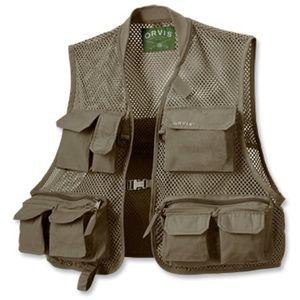 NWT Orvis Clearwater Mesh Utility Vest XL Khaki